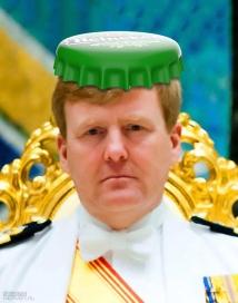 sevensheaven-cartoon_prins-pils-koning-willem-alexander-kroonkurk